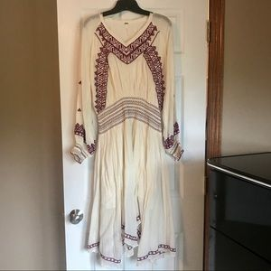 Free People Size Small Embroidered Dress